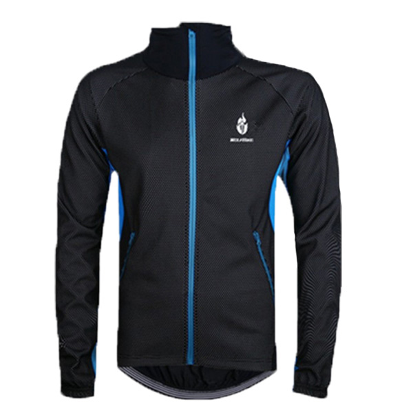 Wolfbike Men Warm Cycling Jersey Fleece Rain & Wind Coat