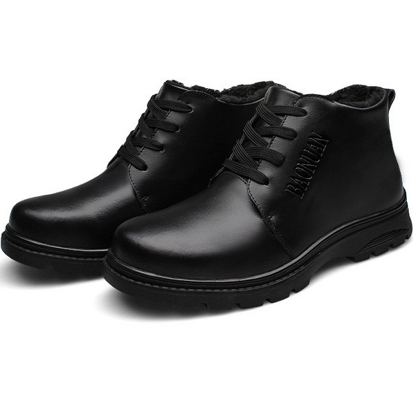 Buy Mens Thick Warm Genuine Leather Shoes Wearproof Sneakers