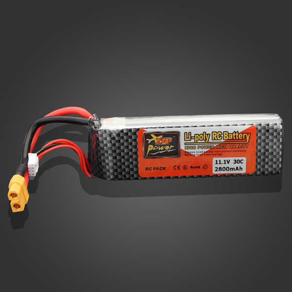 ZOP Power 11.1V 2800mAh 30C Lipo Battery XT60 Plug rechargeable lipo battery zop power 7 4v 400mah 60c 2s lipo battery jst plug