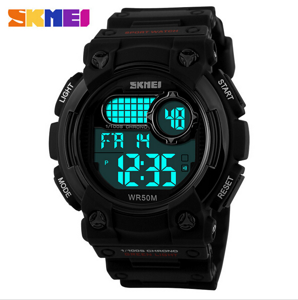 SKMEI 1054 Luminous LED Digital Calendar Waterproof Quartz Sport Watch - skmeiFashion<br>SKMEI 1054 Luminous LED Digital Calendar Waterproof Quartz Sport Watch Specification: Item Type: Wrist Watch Dial Window Material Type: Resin Water Resistance Depth: 50m Movement: Quartz Watch Clasp Type: Buckle Style: Fashion &amp; Casual &amp; Sport Gender: Male Dial Display: Digital Feature: Water Resistance,LED Display,Calendar,Alarm Case Shape: Round Band Material Type: PU Dial Diameter: About 4.5cm Band Length: About 26cm Band Width: About 2.0cm to 2.9cm Package include: 1 X Wrist Watch Notice: The picture is only for reference,please consider carefully before purchase.<br>