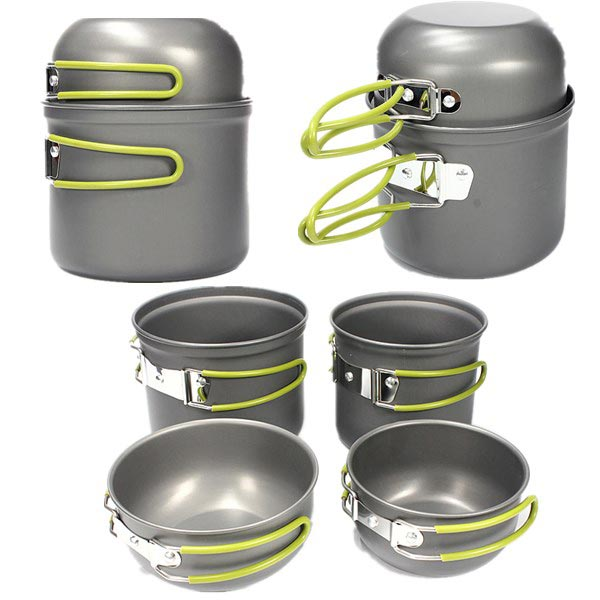 Outdoor Camping Picnic Cookware Cook Pot Bowl Set