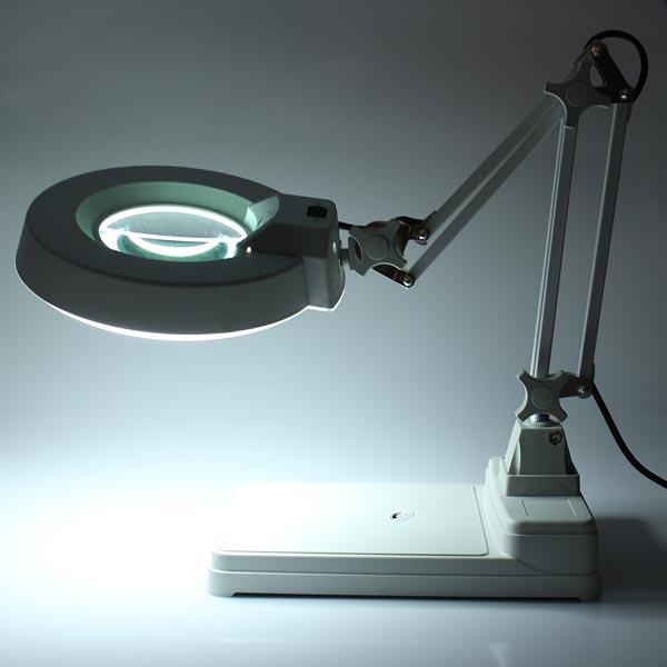 desktop magnifier lamp electronic magnifying glass 220v 22w us. Black Bedroom Furniture Sets. Home Design Ideas