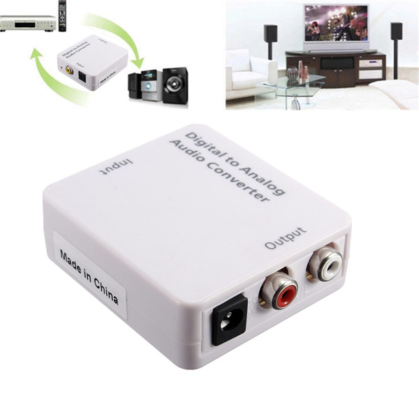 Optical Digital Coaxial Toslink Signal To Analog Audio Converter Eachine1 kopen