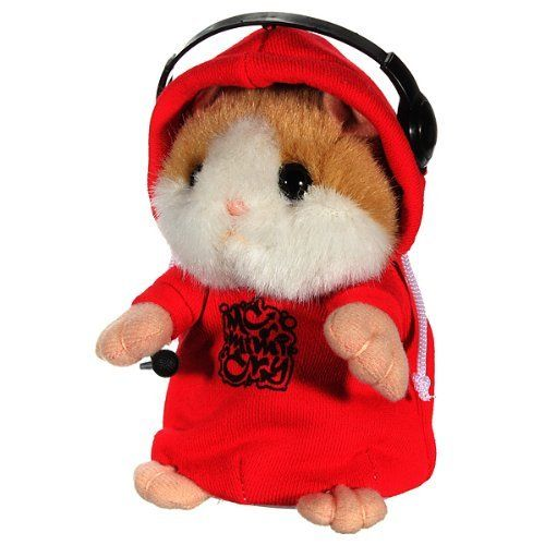 DJ Rapper Early Learning Wear Clothes Hamster Repeat Talking Toy