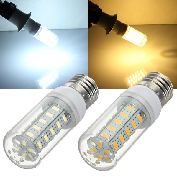 E27 LED Bulb 4.5W Warm White/White 36 SMD 5730 AC 220V Corn Light - EachineE27 LED Bulbs<br>Description: E27 LED Bulb 7W Warm White/White 36 SMD 5730 AC 220V Corn Light Connector E27 Type Corn Bulbs Light Color White / Warm White Color Temperature (K) 6000-6500 / 2800-3200 Wattage (W) 4.5 Voltage (V) AC 220 Light Source SMD 5730 LED Quantity 36 Luminous Flux (lm) 650 Beam Angle 360 Dimension (mm) 95 x 31 Package Included 1 LED Light Bulb Kindly Reminder: 1. Please confirm the voltage first. If the voltage of a product is 12V-24V, then you must use a professional LED voltage converter. 2. Please check the specifications of the product carefully before ordering to insure a proper fit. 3. Do not disassemble any bulbs by yourself. 4. Be sure to cut the power off before beginning installation to avoid personal injury.<br>