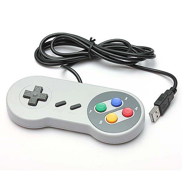 SNES USB Famicom Colored Super Nintendo Style Controller for PC/MAC картридж canon cyan pfi 303c голубой