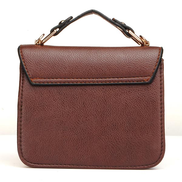 Women Pu Leather Bag Retro Chain Shoulder Bag Cross Body Bag