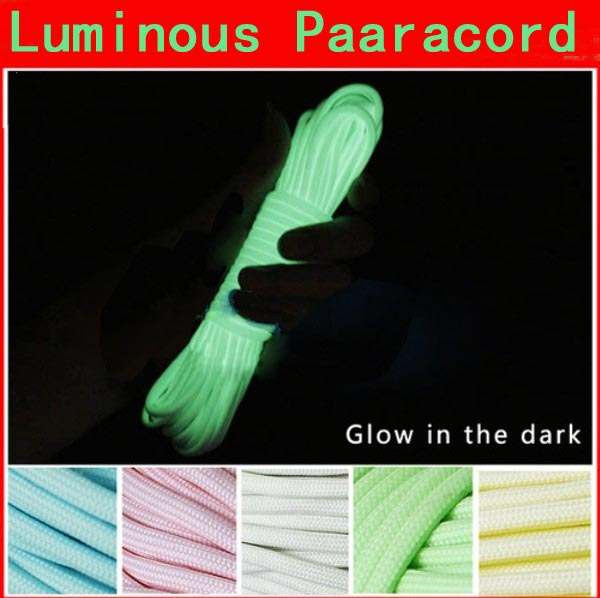 10ft 3m Multifunction Luminous Glow Nylon Paracord Parachute Cord