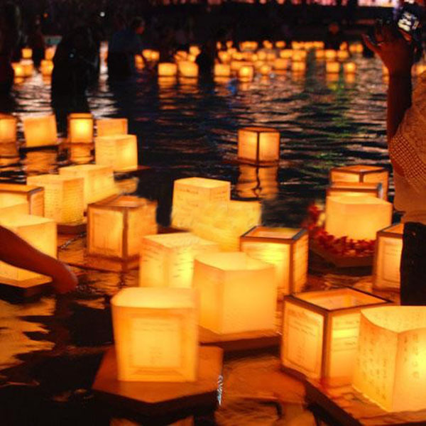 Wedding Wishes In Japanese: Chinese Square Paper Wishing Floating River Candle