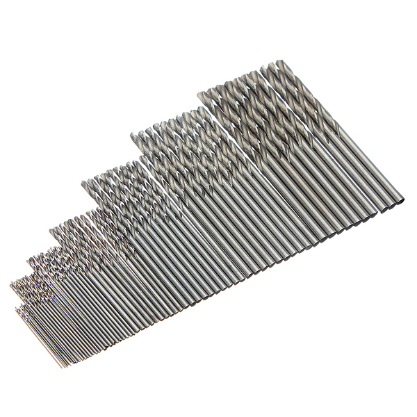 10Pcs Micro HSS Twist Drilling Bit Straight Shank for Electrical Drill 1pc hss m35 triangle shank 14steps 4 30mm hss straight step drill bit core drill bit cone step drill bit set hole cutter for ss