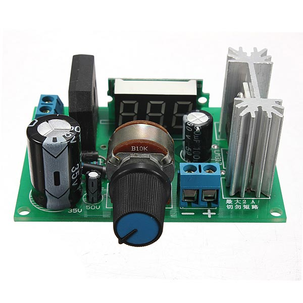 LM317 Adjustable Voltage Regulator Step Down Power Supply Module diy kit dc dc adjustable step down regulated power supply module belt voltmeter ammeter dual display