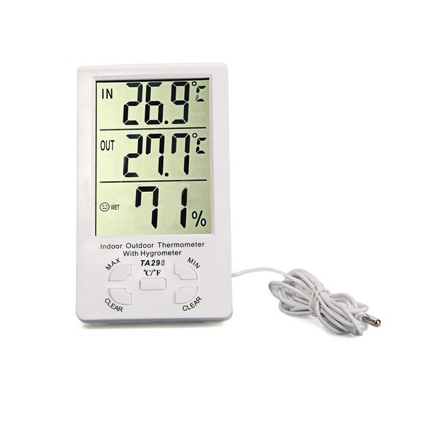 LCD Digital Thermometer Temperature Hygrometer Humidity Gauge Clock
