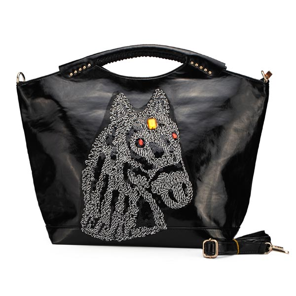 Fashion Bags Vintage Women Horse Head Pattern Large Handbags