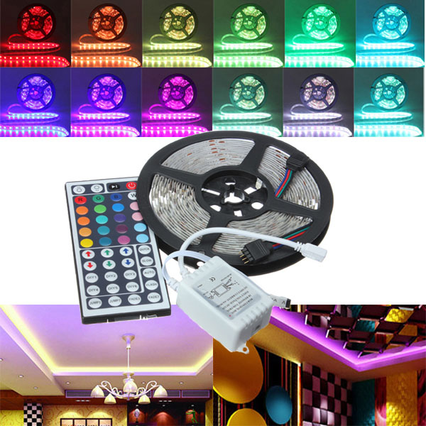 5M RGB 5050 SMD Non-waterproof 300 LED Lights Strip DC 12V 10pcs 5 pin led strip wire connector for 12mm 5050 rgbw rgby ip20 non waterproof led strip to wire connection terminals