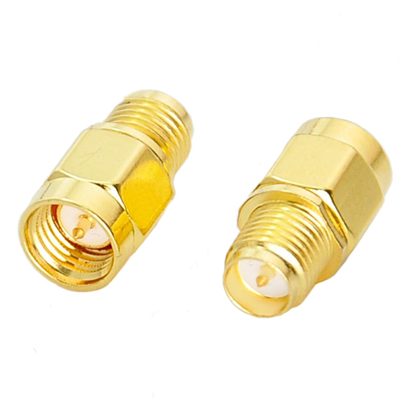 SMA Male To RP-SMA Female RF Coaxial Adapter Connector hwexpress wholesale 5 x plastic 5 pcs f type female to female coaxial barrel coupler adapter connector