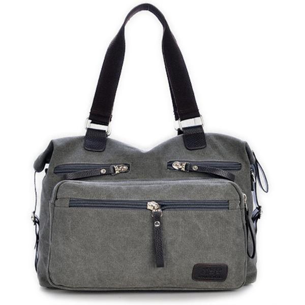 Mens Vintage Canvas Dual-Purpose Handbag Shoulder Crossbody Bag