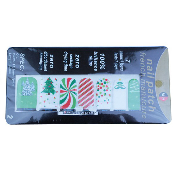 Nail Polish Glue Strips Self Adhesive Cross Nail Decals Sticker