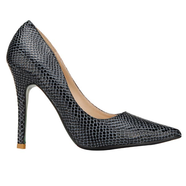 Shallow Mouth Snake Pattern Pumps