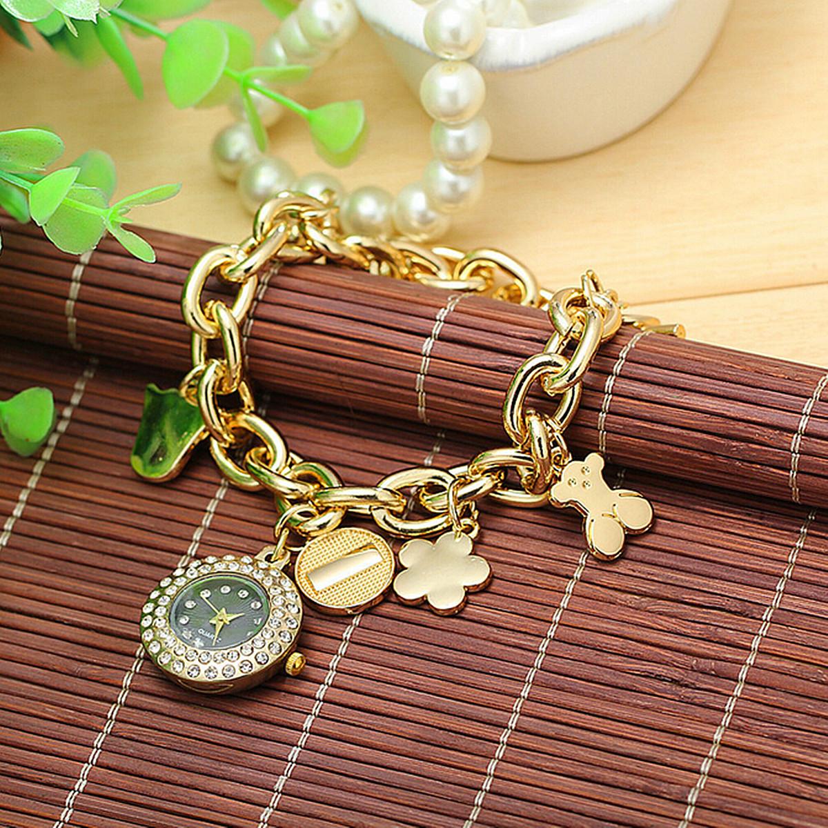 Reloj de pulsera de acero inoxidable de diamantes de - Reloj de cadena ...