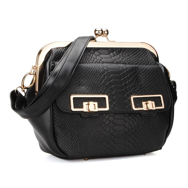 Grain Chain Clip Shoulder Bag Women Crossbody Bag Eyes Hasp Bag