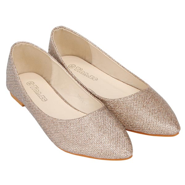 Glitter Pointed Flats Glitter Pointed Toe Flat Shoes