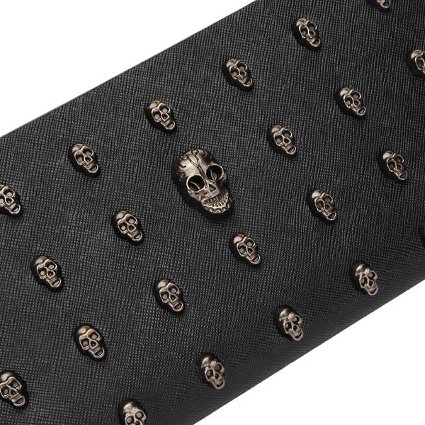 Fashion Lady New Skull Heads Rivet Clutches Bag