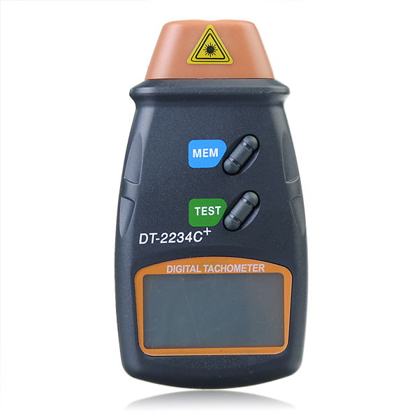 DT2234C+ Digital Laser RPM Tachometer Non Contact Measurement Tool cem high quality digital tachometer rpm 5 digits 31mm blue backing lcd display dt 6236b photo contact tachometer