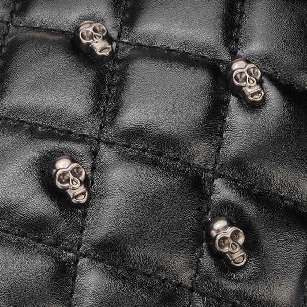 Black Skull Crystal Design Women