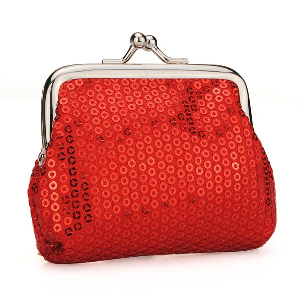 Women Small Coin Wallet Ladies Sequins Candy-colored Coins Wedding Gift
