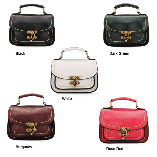 Fashion Women Mortise Lock Retro Small Bag Handbag Cross Body Bag