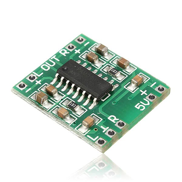 Фото Mini Digital Power Amplifier Board 2*3W Class D Audio Module USB DC 5V PAM8403