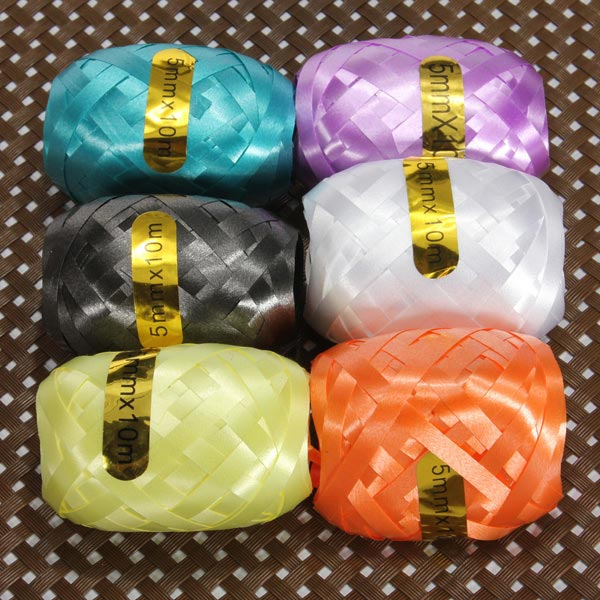 6 Rolls Wholesale Ribbon Balloon Accessories Tapes Curling Ribbon