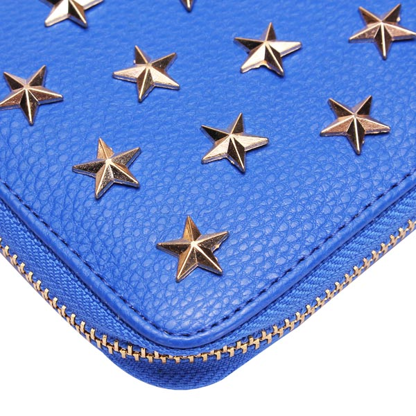 Fashion Punk Style Women Wallet Stars Long Zipper Clutch Wallet Purse