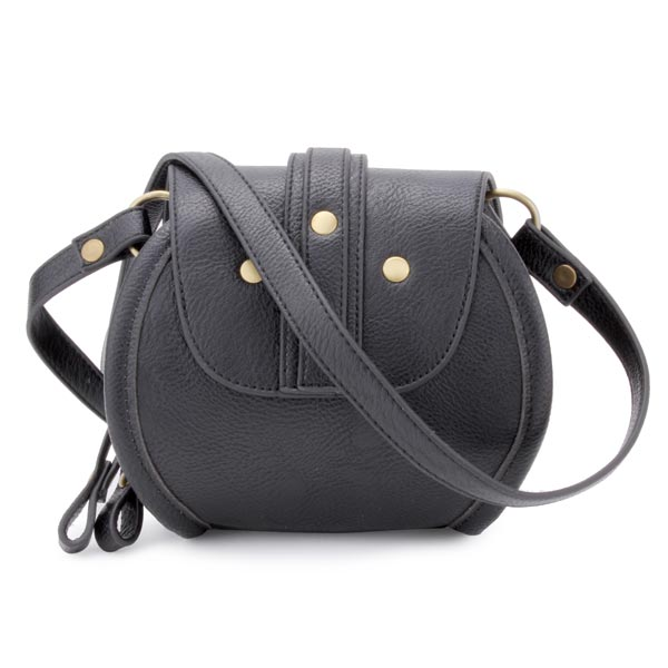 Fashion PU Leather Belt Decorated Double Zipper Mini Crossbody Bag