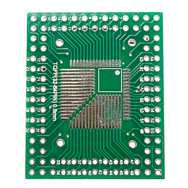 5Pcs 0.5mm/0.8mm QFP/TQFP/LQFP/FQFP 32/44/64/80/100 To DIP Adapter PCB Board Converter