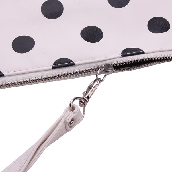 Fashion PU Leather Polka Dots Pattern Clutches Bag Crossbody Bag