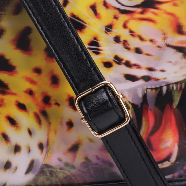 Fashion PU Leather 3D effect Animal Pattern Clutches Bag Crossbody Bag