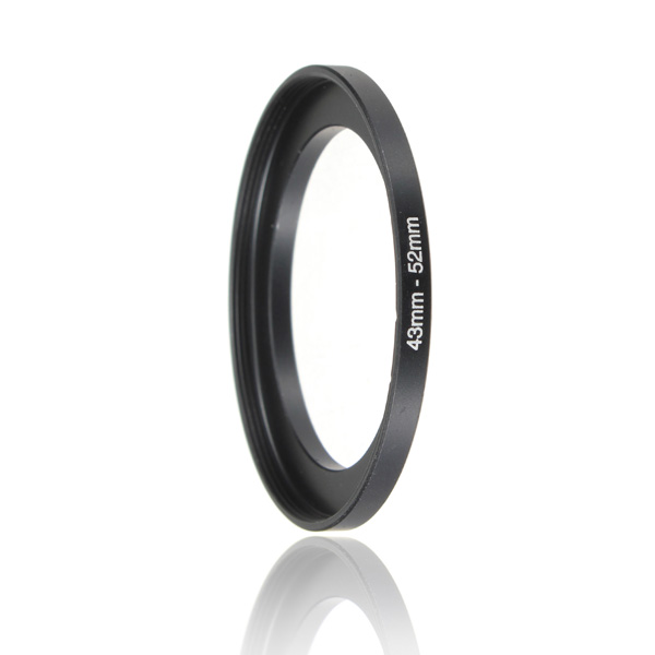 Replacement 43mm-52mm Metal Step Up Lens Filter Ring Stepping Adapter