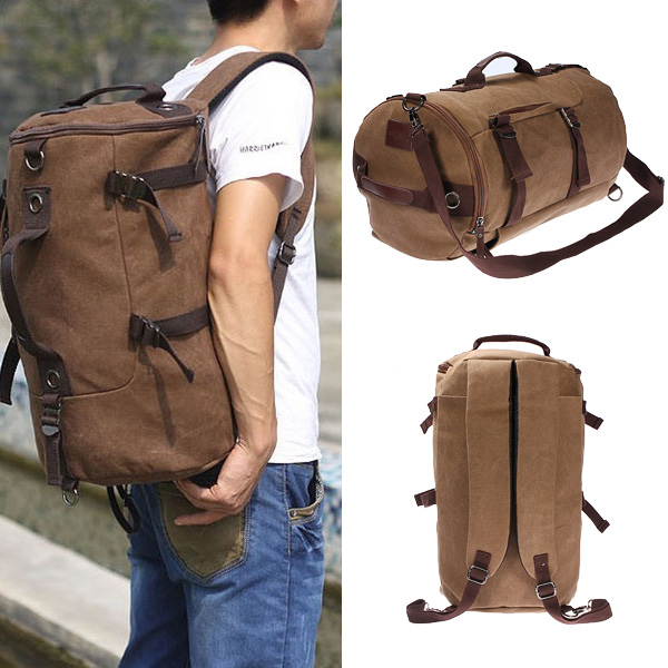 Vintage Canvas Travel Backpack Rucksack  Camping Hiking Bag от Banggood INT