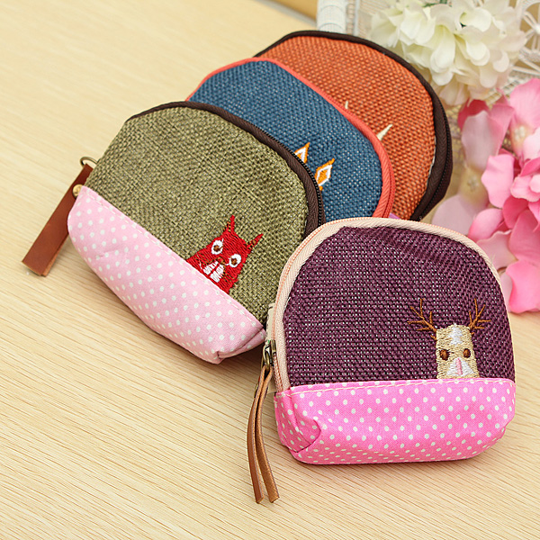 Women Animal Coin Small Bag Card Purse Key Cash Wallet Holder Pouch