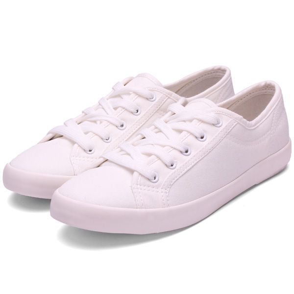 new low help lace up shoeswhite soft bottom canvas
