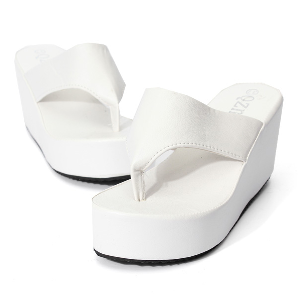 High Platform Wedge Heels  Slipper