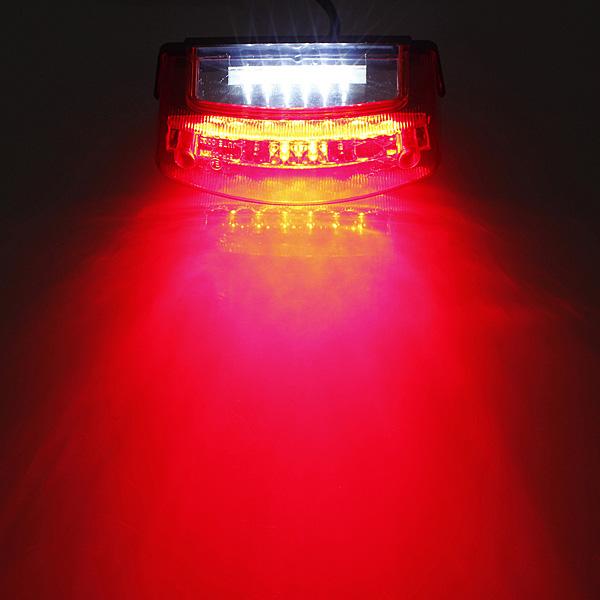 ユニバーサル12V LEDオートバイテールブレーキライトナンバープレートランプ