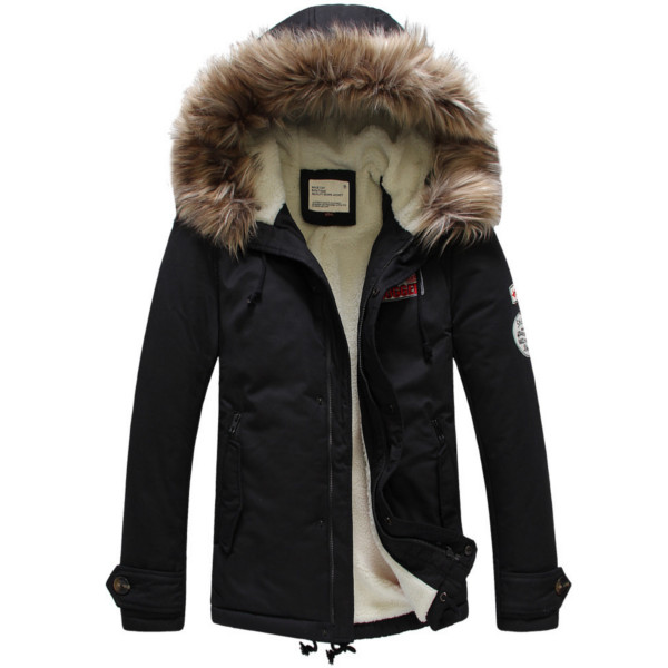 Mens Warm Cotton Winter Casual Jacket Upset Coats