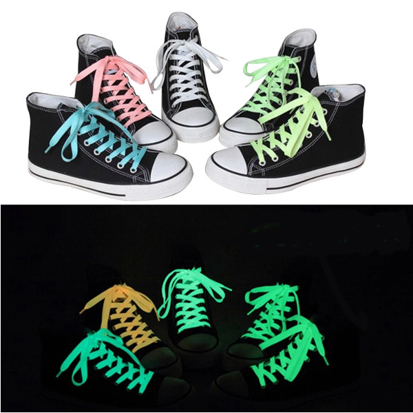 142 CM Men Women Fluorescent Shoelaces Funny Luminous Yarn Shoes Laces