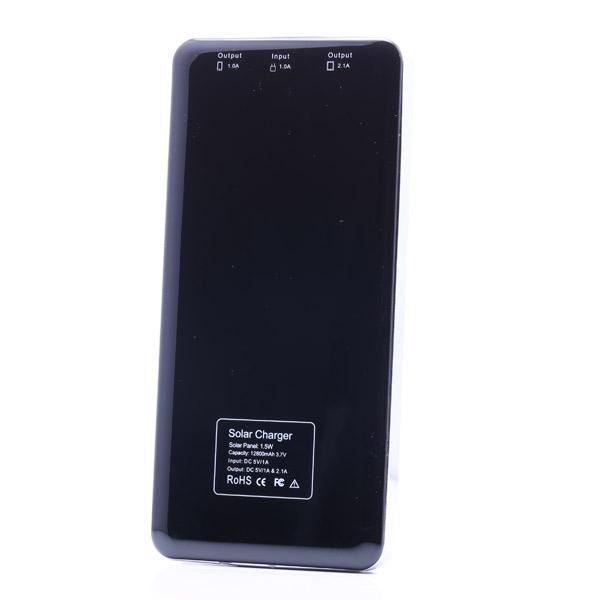 iPhoneスマートフォン用超薄型12800 mAhソーラーチャージャーパワーバンク