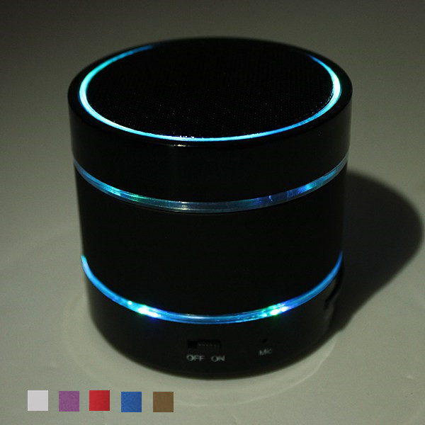 Portable LED Bluetooth V3.0 Stereo Hifi Mini Super Bass Speaker TF