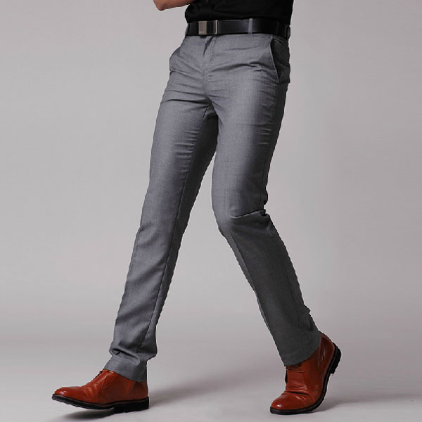 Men's Slim Fit Business Dress Pants Casual Suit Pants - US$17.56 ...