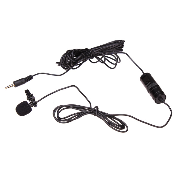 BOYA BY-M1 Omnidirectional Lavalier Microphone For Canon Nikon Sony DSLR Camcorder & Audio Recorders