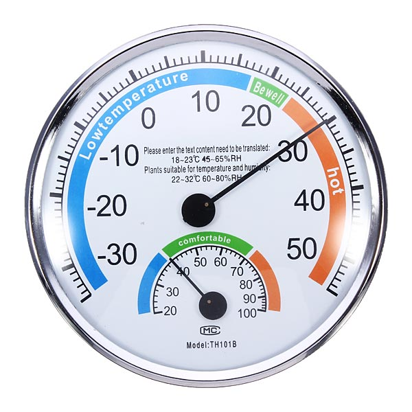 Thermometer and Hygrometer for Indoor And Outdoor Use Weather Meter sauna accessories stainless steel and plastic temperature and humidity thermometer
